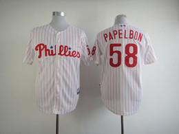 a7f24cfd0 ... 2017 Mens Philadelphia Phillies Jerseys 58 Jonathan Papelbon White Red  Stripe Baseball Jerseys Majestic ...