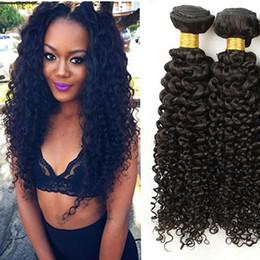 Best Curly Human Hair Extensions Canada - 7A Best Peruvian Kinky curly Hair Brazilian Indian Virgin Hair Kinky Curly Extensions Weaves Grade 3 4Pcs 100%Unprocessed Human Hair Bundles