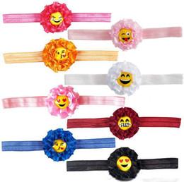 $enCountryForm.capitalKeyWord Canada - Newest Baby Emoji Flow ers Elastic Hea dbands Children Hair Acce ssories Girl Hair Flowers Hadbands Infant Headband 8 colors