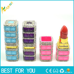 wholesale lipstick usb NZ - Lipstick Shaped Lighter Refillable lighter Gas Torch Flame Lighters also offer usb windproof lighter grinder 2016 new