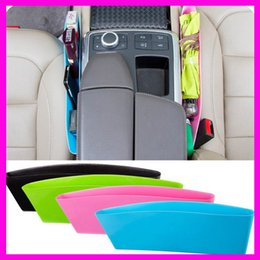 Wholesale 4 colors Car storage Bag Box Seat Pocket Car Seat Catcher Stowing Tidying Pocket Bags Car Storage multifunctional seat gap store content box