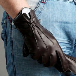 $enCountryForm.capitalKeyWord Canada - Fashion 2016 Winter Men Sheepskin Gloves Solid Wrist Genuine Leather Five Finger Goatskin Driving Glove Special Offer M014wc