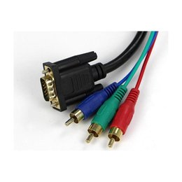$enCountryForm.capitalKeyWord NZ - High Qaulity VGA to 3 RCA Component Cable For Laptop PC LCD TV Fast Shipment