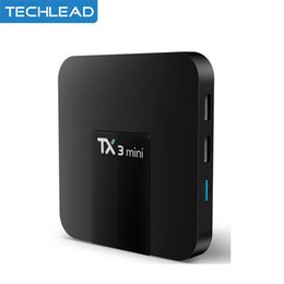hd internet tv set top box 2019 - 5pcs TX3 Mini Google Android 7.1 TV Box Quad Core S905w Internet Media Player 2GB 16GB 4K HD Set Top Box Smart