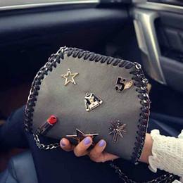 $enCountryForm.capitalKeyWord Canada - women bags Korea 2016 new fashion casual mini shoulder bags Punk PU retro lipstick badge chain crossbody messenger bag,LB1682