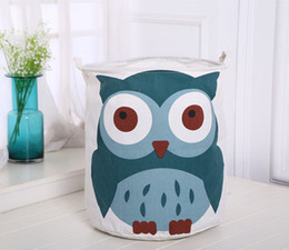 $enCountryForm.capitalKeyWord Canada - 20pcs DHL 40*50cm Zakka Cartoons Canvas Cotton Linen Fabric Clothing Barrels Laundry Storage Basket Bags for Toys Books Towel