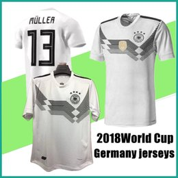 9dca12dcb09 online shopping new Germany soccer jerseys World Cup home white Germany  football shirt customize MULLER OZIL