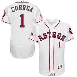 fac835257 Discount astros customized jersey Mens Houston Astros 1 Carlos Correa White  Fashion Stars Youths Houston Astros Customized Home White MLB Cool Base ...