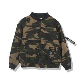 China Mens Camouflage Jacket Embroidery Printed Decorative Ribbon Youth Wind BF Harajuku Style Lovers Baseball Uniform For Men Streetwear Coat supplier jacket ribbon suppliers