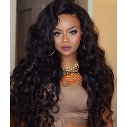 Silk Base Part Wigs NZ - Side Part Body Wavy malaysian human hair glueless full lace wig with baby hair around natural hairline silk base lace fornt wig