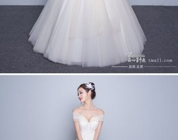 A Shoulder Collar Wedding Dress 2017 New Autumn And Winter The Bride Korean Large Code Thin Beautiful Ribbon Trailing White