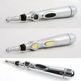 Ingrosso Regalo di natale Pain Relief Therapy penna penna di agopuntura di energia elettronico meridiano punto di agopuntura rivelatore terapia massaggio penna assistenza sanitaria