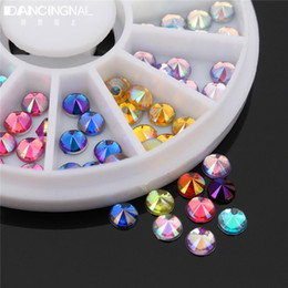 Diamante Rhinestone Clavo Diseños Baratos-Al por mayor-Moda 12 Mix Color Glitter Diamond Gems 3D Diseño acrílico Nail Art Rhinestones Decoración Rueda Nails Tips Decor herramienta de la manicura
