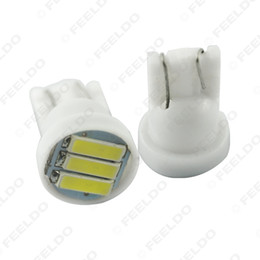 wholesale Super White 1.5W T10 194 168 W5W 7014 7020 3SMD Car Side Wedge Tail Turn LED Light Bulb #4184 on Sale