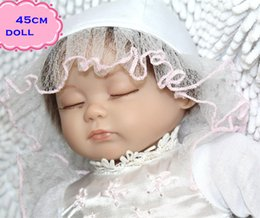 Jupe Blanche Pas Cher-18inch New Arrival Sleeping Reborn Silicone Baby Dolls In White Skirt Comme Princesse Doll For Kids Jouer Livraison Doll Pullip gratuit