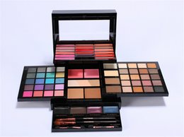 Halloween makeup palette online shopping - Profusion Makeup Sets Pro Elevation Kit Cream Lip Gloss Highlither Blush Eyeshadow Palette With brushes DHL shipping