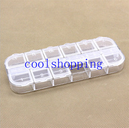 $enCountryForm.capitalKeyWord NZ - New Nail Art 12 Empty Compartment Plastic Storage Box Earring Jewelry Bin Case Container Sewing box