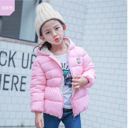 $enCountryForm.capitalKeyWord Canada - baby girls princess down coat hooded cashmere padded outwear for kids girl winter jacket cute ears solid color children clothes wholesale