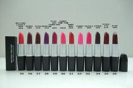 $enCountryForm.capitalKeyWord NZ - New makeup Matte Lipstick Batom Fosco With English Name total 12 Different Colors 3g ( 12 Pcs Lot)