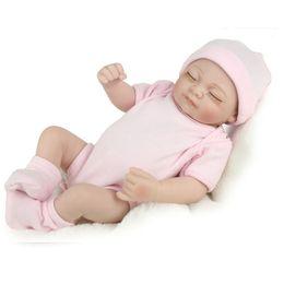 $enCountryForm.capitalKeyWord Canada - Christmas Presents 28 cm Silicone Reborn Baby Dolly Kids Playmate Gift For Girls Reborn Toys Simulation Closed Eyes Doll