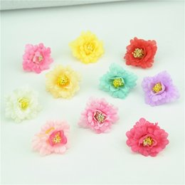 $enCountryForm.capitalKeyWord Australia - 30pcs lot 4cm Rose Artificial Silk Flower Heads Small Tea Bud For Wedding Decoration Flowers Headmade Scrapbooking Accessories