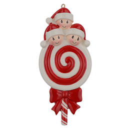 $enCountryForm.capitalKeyWord NZ - Maxora Lollipop Family of 3 Baby Resin Glossy Christmas Tree Ornaments As Craft Souvenir For Personalized Gifts Home Party Decoration