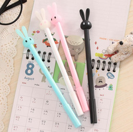 rabbit pens Australia - rabbit black ink gel pens cute creative cartoons jelly modelling signature neutral pen writing gel pens stationery school office supplies