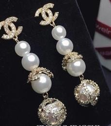 Ingrosso Perla forata Zircon Earrining personalizzata di alta qualità