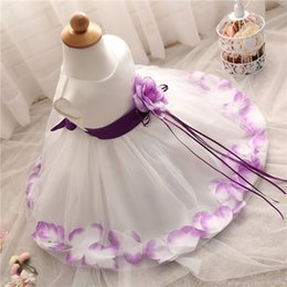 Gifts For Infant Girls Canada - Wholesale- Toddler Girl Baptism Dress Christmas Costume Baby Girl 1 Year Birthday Gift Princess Infant Kids Party Wear Dresses For Girls 2T