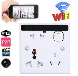 Camera Dvr Wifi Australia - Full HD 1920*1080P WIFI HD DVR IP Camera Real Wall Socket Wireless Wall Socket Video Recorder Cam PQ245