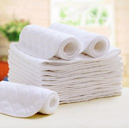 Nappy Cotton Liner Inserts NZ - 100% cotton Baby diapers washable reusable cloth nappies 3 layers merries Baby diaper insert super-absorbency Microfiber nappy Liners