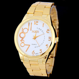 new trendy watches men Canada - Man Woman Trendy Luxury Stainless Steel Dress Watch Simple Business Casual Analog Quartz Watch Top Brand New Sport Watch for Woman