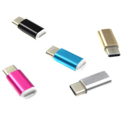 Connector Support NZ - 2016 USB 3.1 Type-C Male to Micro USB Female Converter Micro USB Connector USB-C Adapter For Type-C Support Device Free DHL Shipping