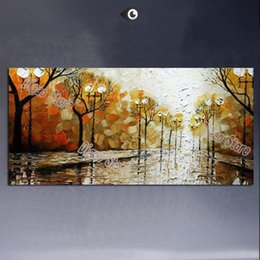 popular landscape painting 2019 - Stree landscape 100% hand painted scenery oil painting on canvas wall art painting modern popular home decoration cheap