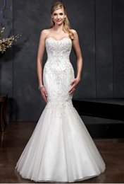cheap strapless trumpet wedding dresses UK - Sweetheart Simple White Bridal Gowns Charming Lace Mermaid Wedding Dresses Elegant Strapless Bridal Gowns Custom Made Cheap Wedding Dresses
