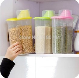 $enCountryForm.capitalKeyWord Australia - Wholesale- J0160 Large size cereals storage seaked tank dumping of antibacterial storage jars 2.5L 16x9x22cm 1PC free shipping