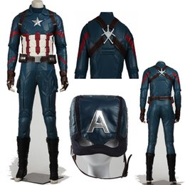 $enCountryForm.capitalKeyWord Canada - High Quality Apparel Superheros Captain America 3 Civil War Captain America Steven Rogers Cosplay Costume Suits Custom Made