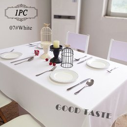 $enCountryForm.capitalKeyWord NZ - 1PC Table Linens of Wedding  Polyester Black Table Cloth for Banquet Hotel Decor  Square Endurable Table Cover Cloths White Free Shippping
