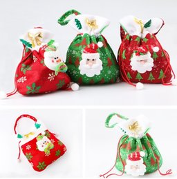 canvas christmas gift candy bags christmas bags drawstring favor gift package bulk set of multi style neon colored goodie bags sacks