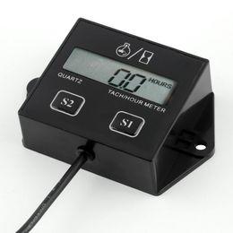 EnginE hours online shopping - Digital LCD Display Engine Tach Hour Meter Tachometer Gauge Inductive For Motorcycle Motor Stroke Engine Spark Hot