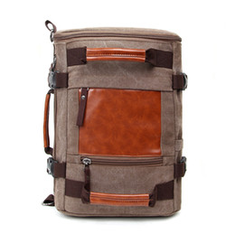 $enCountryForm.capitalKeyWord NZ - New travel bag factory wholesale men backpack casual canvas handbag fashion women shoulder bag multifunctions cross body girls backpack