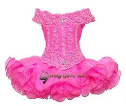 $enCountryForm.capitalKeyWord UK - 2016 New Cupcake Pageant Dresses Portrait Refinement Hand Made Flower Beaded Cute Infant Girls Dresses Birthday Party