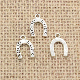 $enCountryForm.capitalKeyWord NZ - Wholesale 100pcs Charms Tibetan Silver Antique Bronze plated lucky horseshoe good luck 17*12mm Pendant for Jewelry DIY Hand Made Fitting