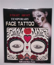Wholesale 2017 Fright Night Temporary Face Tattoo Body Art Chain Transfer Tattoos Temporary Stickers in stock Styles