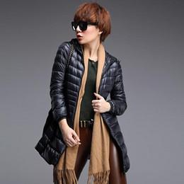 6xl ladies jacket online shopping - Women Down Coats Ladies Long Winter Solid Color Warm Coat Ultra Light White Duck Down Jacket Hooded Female Parkas Plus Size