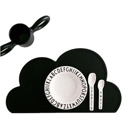 baby silicone placemat Canada - Wholesale- GOONBQ 1pc 48*27 cm Cloud Shape Baby Table Mat Silicone Kids Waterproof Placemat Cloud Shaped Table Mat Set Home Kitchen Pads