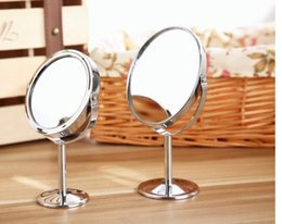 oval shaped glasses frames NZ - Makeup Mirror Double 2 Sided Magnifying Mirrors Round Circular Oval Shape 2X Magnification Polished Chrome for Lady Table R0101012