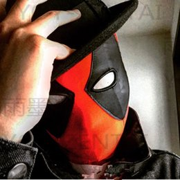 Discount deadpool quality costume halloween Unisex Cosplay Movie Coser-2 High Quality Super Hero Deadpool Spandex Eyes Rubber Coating Face Mask costume on