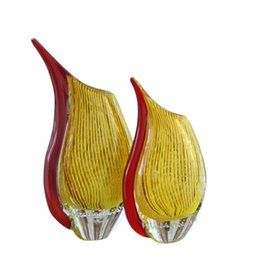 Hand Made Ornament Canada - Contemporary Art Glass Vase High Quality Hand made Beveled Europe Style Homes Decor Art Crafts Vase Murano Glass Vases