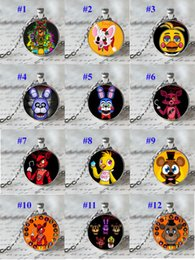 Wholesale Fashion Five Nights At Freddy s Stainless Steel Pendents Styles Cartoon FNAF Pendents Necklaces Cute Animal Pendents And Chain